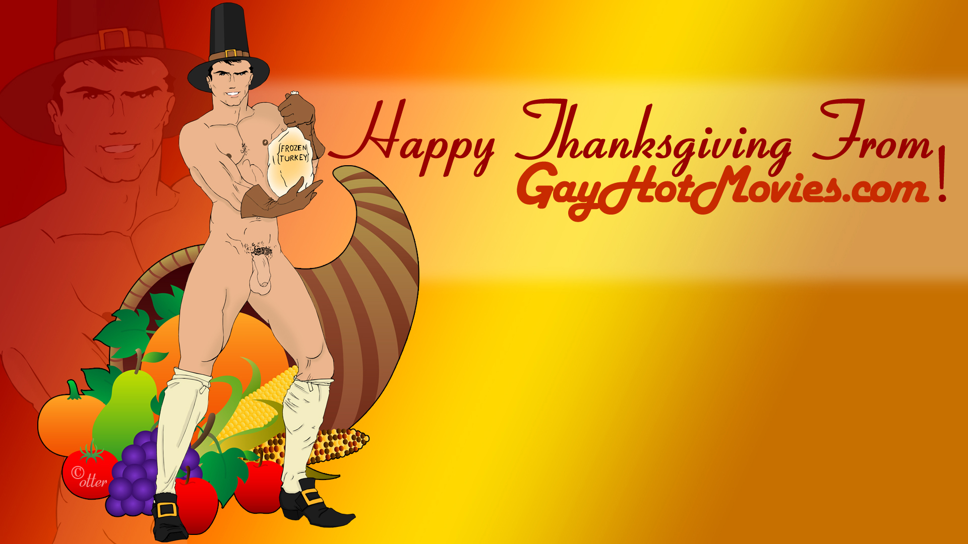 Happy Thanksgiving From GayHotMovies.com & The Otter!