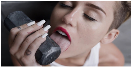 Miley Cyrus Licks Sledgehammer